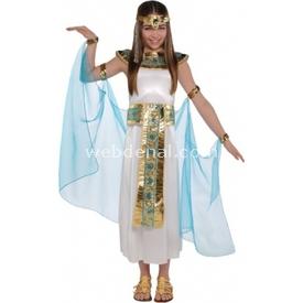 Parti Paketi Nil Prensesi Kleopatra Kostümü, 8-10 Yaş Kız Çocuk Kostümleri