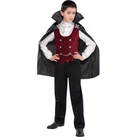 Parti Paketi Vampir Kostümü 4-6 Yaş Erkek Çocuk Kostümleri