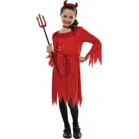 Parti Paketi Küçük Şeytan Kostümü 4-6 Yaş Kız Çocuk Kostümleri