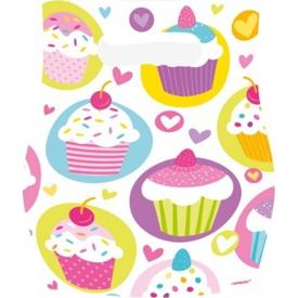 Parti Paketi Sweet Cupcake Partisi,  6'lı Hediye Poşeti