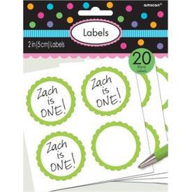 Parti Paketi Şeker Büfesi Etiket, Açık Yeşil Kişiselleştir Hediye Etiketi