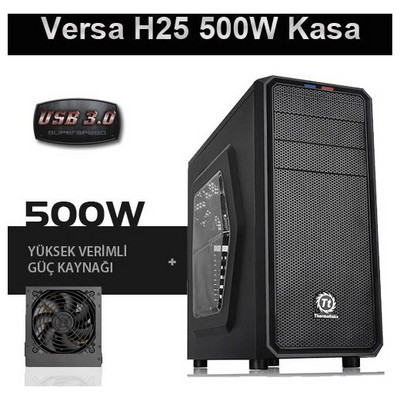 Thermaltake Versa H25 Window 500w Gaming Kasa (CA-3C2-50M1WE-00)