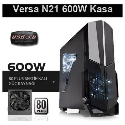 Thermaltake Versa N21 600w Mid Tower Kasa (CA-3D9-60M1WE-00)