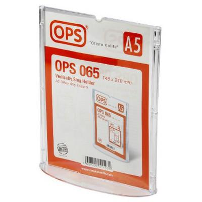 OPS -064 A5 Dikey Afiş Taşıyıcı Sunum Ürünleri
