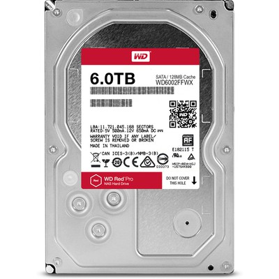 """WD Wd 6tb 3.5"""" Sata 6 128mb Red Pro Nas Wd6002ffwx Hard Disk"""