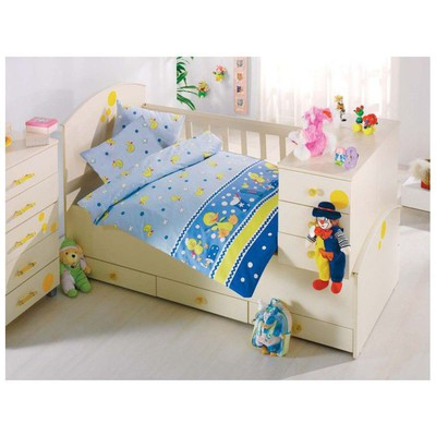 Altınbaşak Vak Vak Bebek Nevresim Takımı - Mavi Ev Tekstili