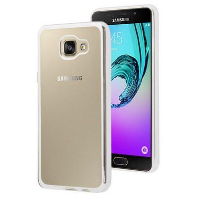 Microsonic Samsung Galaxy A7 2016 Kılıf Flexi Delux Gümüş Cep Telefonu Kılıfı