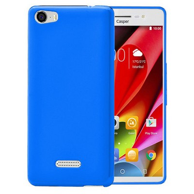 Microsonic Casper Via M1 Kılıf parlak Soft Şeffaf Mavi Cep Telefonu Kılıfı