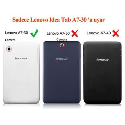 Microsonic Lenovo Tab2 A7-30 7 Inch Tablet Kickstand Deri Kılıf Siyah Tablet Kılıfı