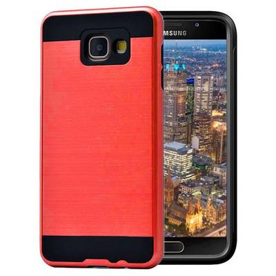 Microsonic Samsung Galaxy A7 2016 Kılıf Slim Heavy Duty Kırmızı Cep Telefonu Kılıfı