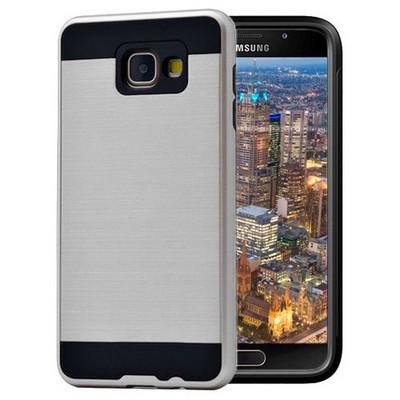 Microsonic Samsung Galaxy A7 2016 Kılıf Slim Heavy Duty Gümüş Cep Telefonu Kılıfı