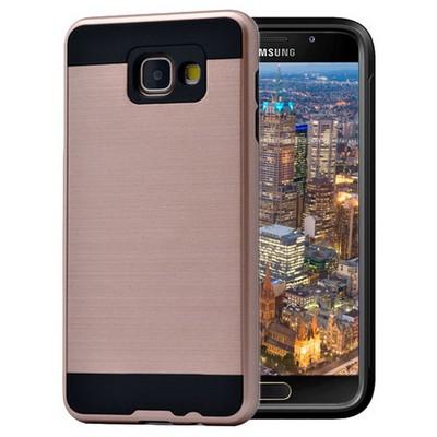 Microsonic Samsung Galaxy A7 2016 Kılıf Slim Heavy Duty Gold Cep Telefonu Kılıfı
