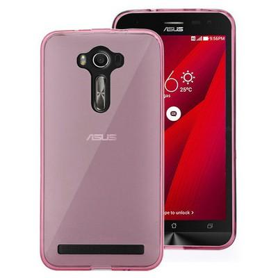 Microsonic Asus Zenfone 2 Laser 6 Inch Kılıf Transparent Soft Pembe Cep Telefonu Kılıfı