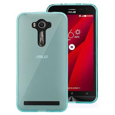Microsonic Asus Zenfone 2 Laser 6 Inch Kılıf Transparent Soft Mavi Cep Telefonu Kılıfı