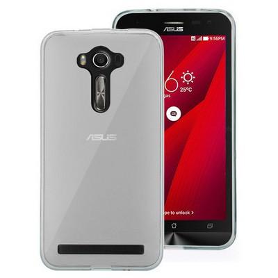 Microsonic Asus Zenfone 2 Laser 6 Inch Kılıf Transparent Soft Beyaz Cep Telefonu Kılıfı