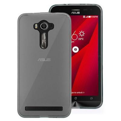 Microsonic Asus Zenfone 2 Laser 6 Inch Kılıf Transparent Soft Siyah Cep Telefonu Kılıfı