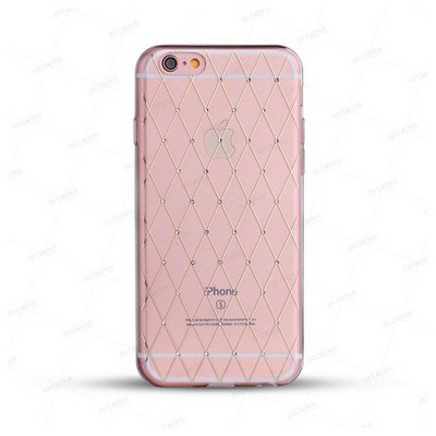 Cayka Cs-tbtpu-g-app-6sp Iphone 6s Plus Taşlı Trans.baklava Yaldızlı Kılıf Cep Telefonu Kılıfı