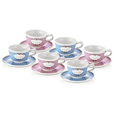 Neva N630 2 Renk 1 Set 6'lı Kahve Fincan Seti Fincan Takımı