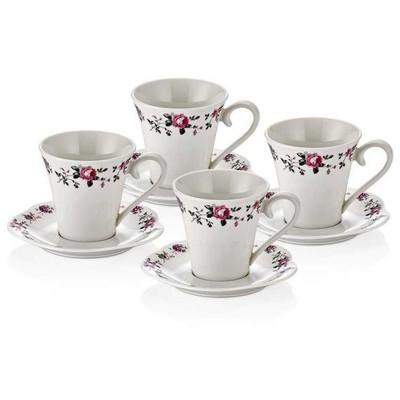 Neva N742 Alvita 4`lü Çay Fincan Seti Fincan Takımı