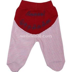 Sebi Bebe 52040 Patikli Bebek Pantolonu Kırmızı 0-3 Ay (56-62 Cm) Pantolon & Şort