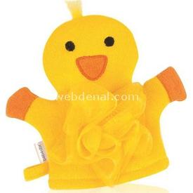 Bebedor 582 Lifli Bebek Banyo Kuklası Sarı Civciv Banyo Süngeri