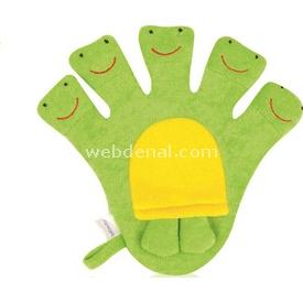 Bebedor 583 Gülen Bebek Banyo Kuklası Yeşil Banyo Süngeri