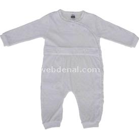 Caramell Tk2197 Kız Bebek Tulum Ekru 6-9 Ay (68-74 Cm) Bebek Tulumu