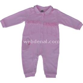 Caramell Tk2213 Kız Bebek Tulum Pembe 9-12 Ay (74-80 Cm) Bebek Tulumu
