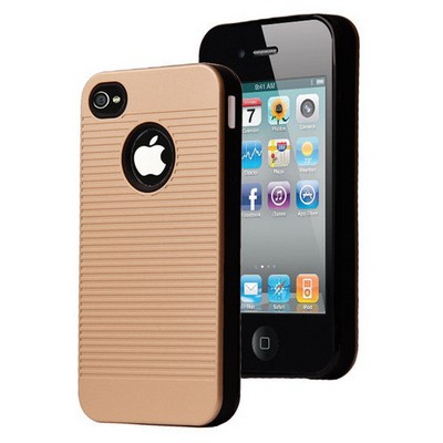 Microsonic Iphone 4s Kılıf Linie Anti-shock Gold Cep Telefonu Kılıfı