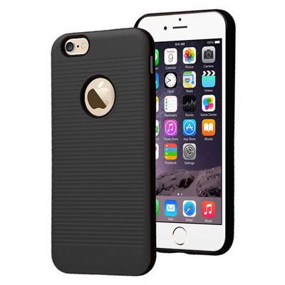 Microsonic Iphone 6s Plus Kılıf Linie Anti-shock Siyah Cep Telefonu Kılıfı
