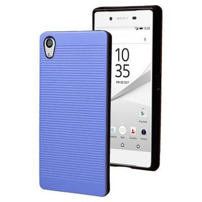 Microsonic Sony Xperia Z5 Premium Kılıf Linie Anti-shock Mavi Cep Telefonu Kılıfı
