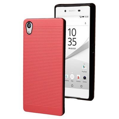 Microsonic Sony Xperia Z5 Premium Kılıf Linie Anti-shock Kırmızı Cep Telefonu Kılıfı