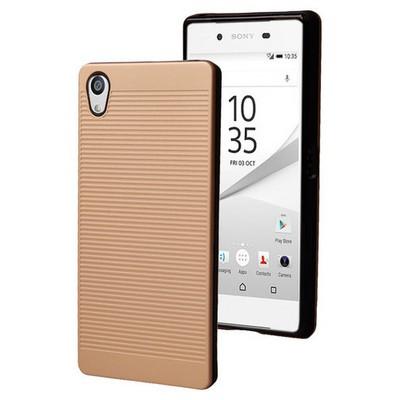 Microsonic Sony Xperia Z5 Premium Kılıf Linie Anti-shock Gold Cep Telefonu Kılıfı