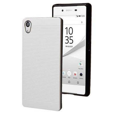 Microsonic Sony Xperia Z5 Premium Kılıf Linie Anti-shock Beyaz Cep Telefonu Kılıfı