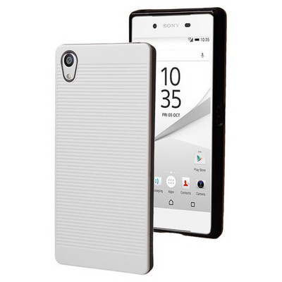 Microsonic Sony Xperia Z5 Kılıf Linie Anti-shock Beyaz Cep Telefonu Kılıfı