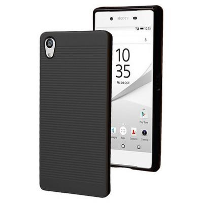 Microsonic Sony Xperia Z5 Kılıf Linie Anti-shock Siyah Cep Telefonu Kılıfı