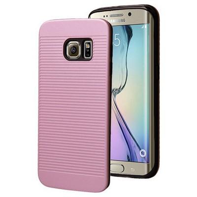 Microsonic Samsung Galaxy S6 Edge Kılıf Linie Anti-shock Pembe Cep Telefonu Kılıfı