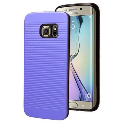 Microsonic Samsung Galaxy S6 Edge Kılıf Linie Anti-shock Mavi Cep Telefonu Kılıfı