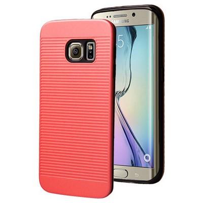 Microsonic Samsung Galaxy S6 Edge Kılıf Linie Anti-shock Kırmızı Cep Telefonu Kılıfı