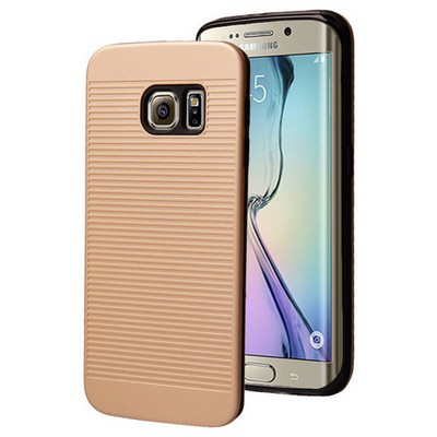 Microsonic Samsung Galaxy S6 Edge Kılıf Linie Anti-shock Gold Cep Telefonu Kılıfı