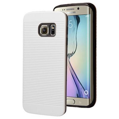 Microsonic Samsung Galaxy S6 Edge Kılıf Linie Anti-shock Beyaz Cep Telefonu Kılıfı