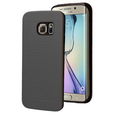 Microsonic Samsung Galaxy S6 Edge Kılıf Linie Anti-shock Siyah Cep Telefonu Kılıfı
