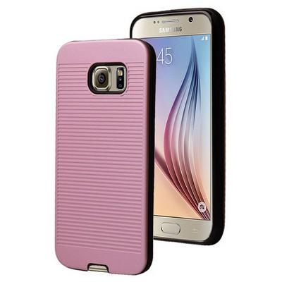 Microsonic Samsung Galaxy S6 Kılıf Linie Anti-shock Pembe Cep Telefonu Kılıfı