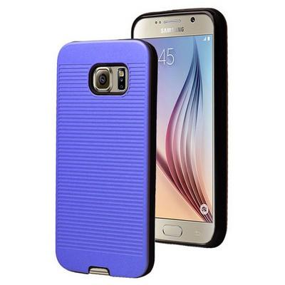 Microsonic Samsung Galaxy S6 Kılıf Linie Anti-shock Mavi Cep Telefonu Kılıfı