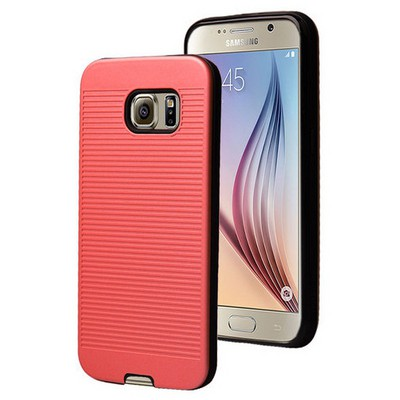Microsonic Samsung Galaxy S6 Kılıf Linie Anti-shock Kırmızı Cep Telefonu Kılıfı