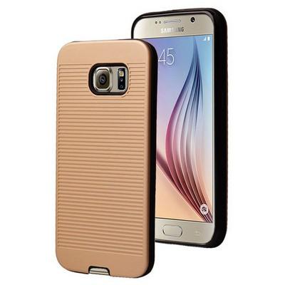 Microsonic Samsung Galaxy S6 Kılıf Linie Anti-shock Gold Cep Telefonu Kılıfı