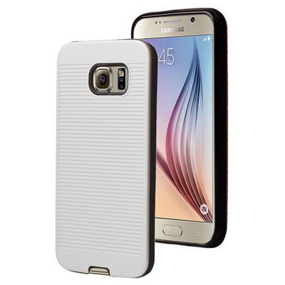 Microsonic Samsung Galaxy S6 Kılıf Linie Anti-shock Beyaz Cep Telefonu Kılıfı