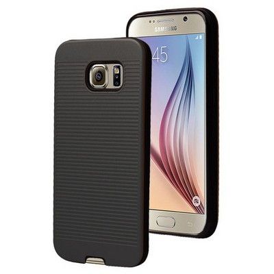 Microsonic Samsung Galaxy S6 Kılıf Linie Anti-shock Siyah Cep Telefonu Kılıfı