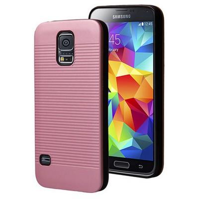 Microsonic Samsung Galaxy S5 Kılıf Linie Anti-shock Pembe Cep Telefonu Kılıfı