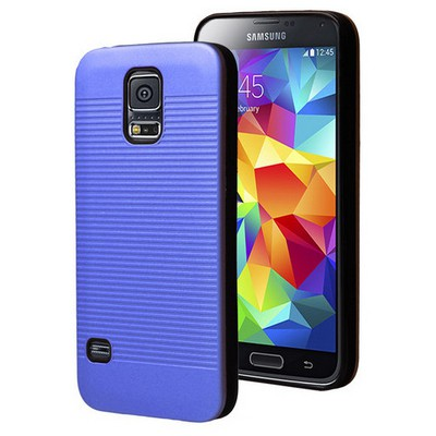 Microsonic Samsung Galaxy S5 Kılıf Linie Anti-shock Mavi Cep Telefonu Kılıfı